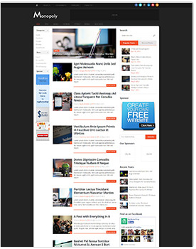 wordpress magazine theme monopoly