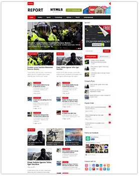 report wordpress magazine theme