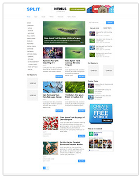 split wordpress magazine theme
