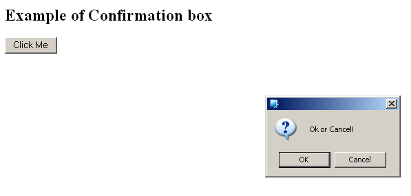 JavaScript popup box confirm