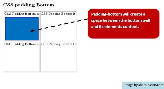 learn css padding bottom.
