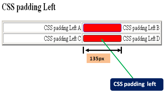 Learn css padding left.