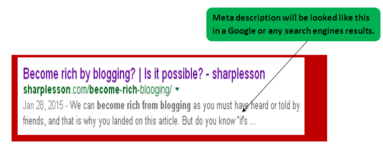 check SEO meta description.